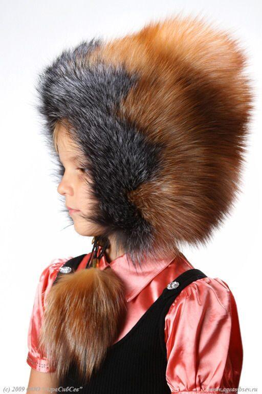 зимняя шапка из меха лисы,детские меховые изделия,пошив,продажа